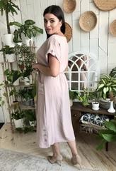 Ариадна. Однотонное красивое платье больших размеров. Беж