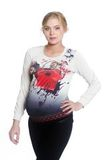 Джемпер для беременных 08030 бежевый