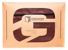 Коричневый горизонтальный чехол на молнии Gmakin для Macbook
