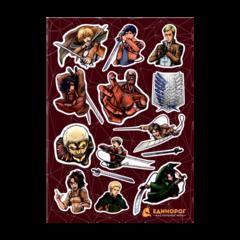Набор стикеров Attack on Titans #2