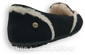 UGG Women Loafed Slippers Hailey Black