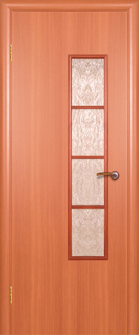Дверь ДО 512 (итальянский орех, остекленная ламинированная), фабрика Краснодеревщик