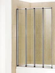 Стеклянная шторка на ванну Welt-Wasser WW 100ZA4 100