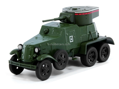 BA-6 Military Armored Car USSR 1:43 DeAgostini Service Vehicle #67