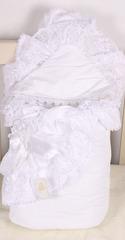 Демисезонный конверт-одеяло Красотка белый