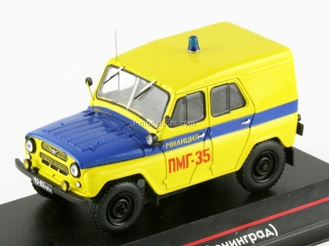 UAZ-469B Police PMG Leningrad early edition version of the painting 1:43 ICV026A