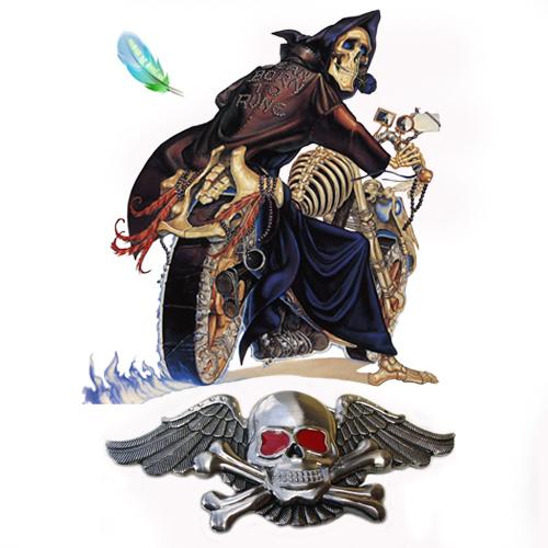 Skull With Wings Belt Buckle