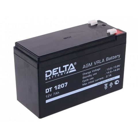 DT 1207 аккумулятор 12В/7Ач Delta