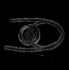 Cиликоновый шланг для кальяна черный