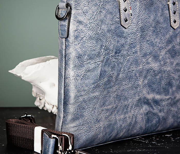 BAG510-3 Портфель из натуральной кожи синего цвета фото 03