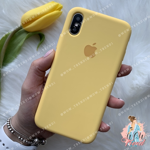 Чехол iPhone X/XS Silicone Case /yellow/ желтый 1:1