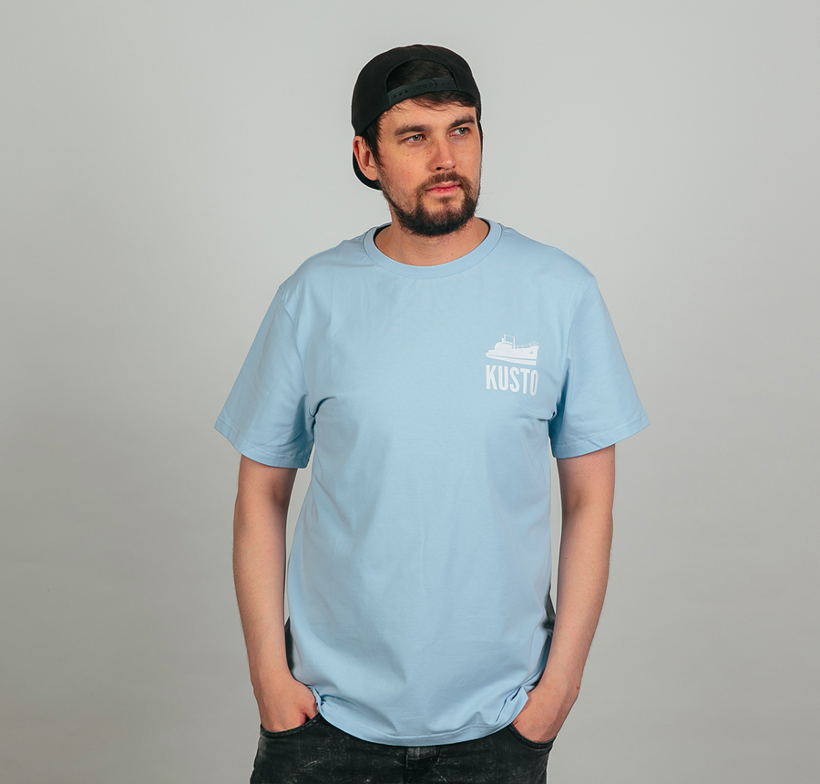 Logo T-Shirt Beautiful Blue