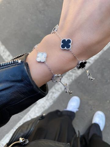 Браслет Trendy из серебра с перламутром - 5 мотивов