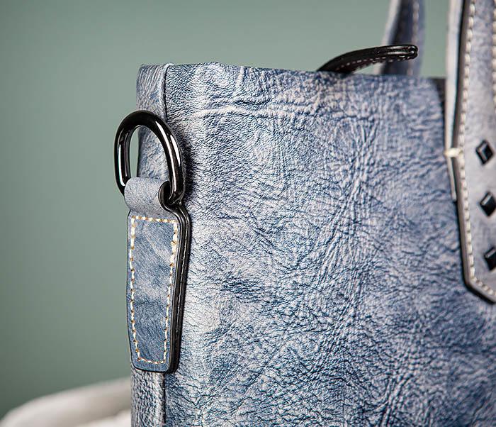 BAG510-3 Портфель из натуральной кожи синего цвета фото 04
