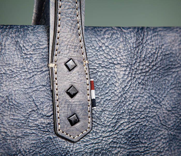 BAG510-3 Портфель из натуральной кожи синего цвета фото 05