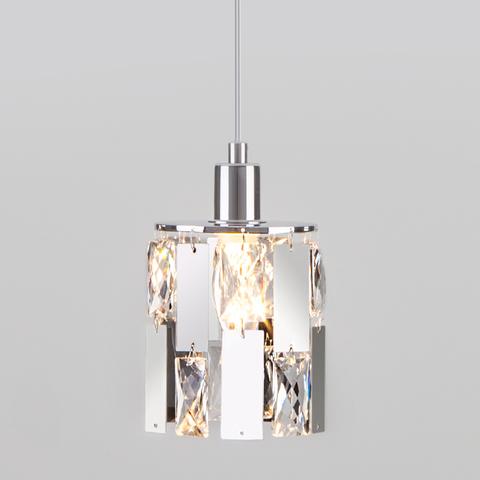 Подвесной светильник с хрусталем 50101/1 хром
