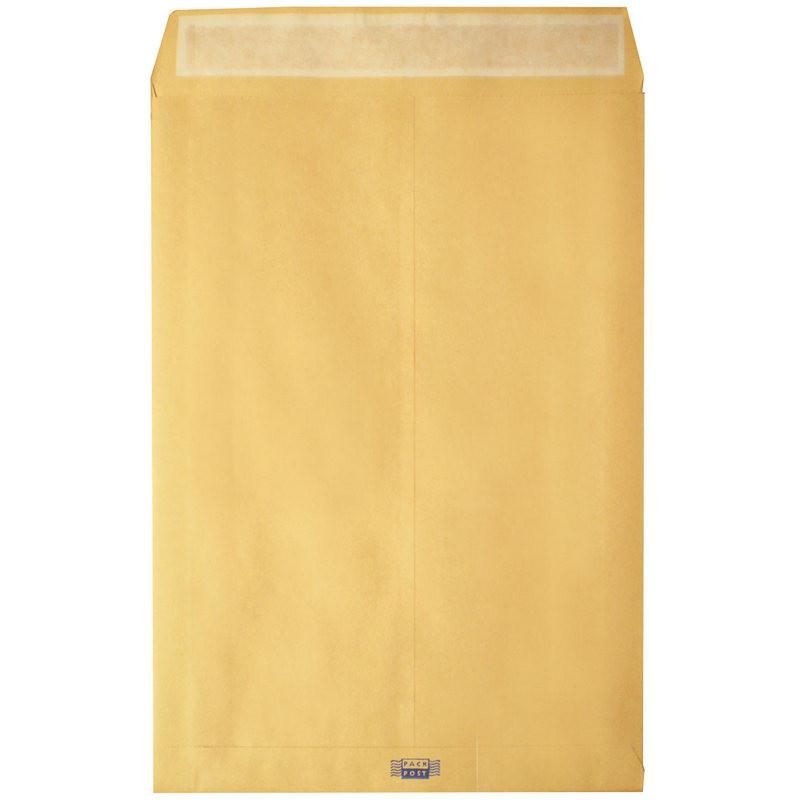 Пакет Largepack С4 из крафт-бумаги с расширением 100 г/кв.м стрип (200 штук в упаковке)