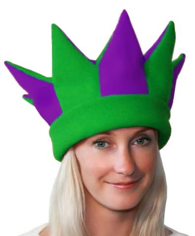Карнавальная шапка Шута зелёная