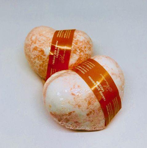 Бомбочки для ванн Сердце. Апельсин 130гр. ТМ SAVON D LION