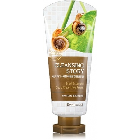 WELCOS Kwailnara Пенка для умывания Snail Essential Deep Cleansing Foam 120 мл