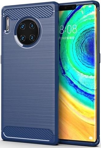 Чехол Huawei Mate 30 Pro (Mate 30 RS) цвет Blue (синий), серия Carbon, Caseport