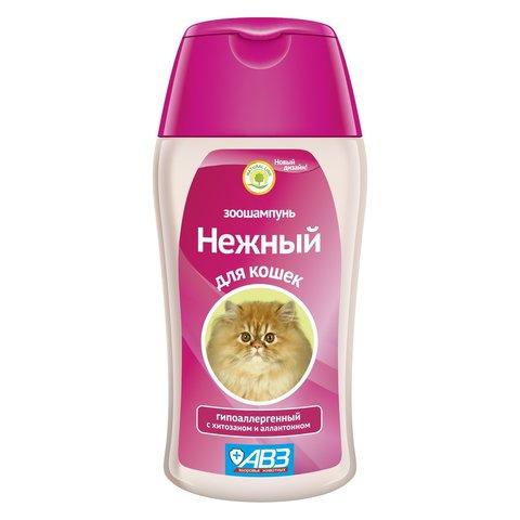 Нежный зоошампунь для котят гипоаллергенный с хитозаном и аллатоином 180мл