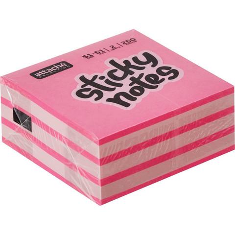 Стикеры Attache Selection миникуб 51х51, розовый 250 л