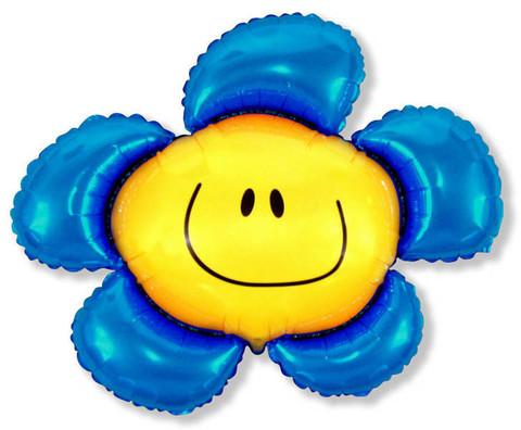 Фольгированный шар Цветочек синий