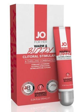 Клиторальный крем JO WARM   BUZZY CLITORAL GEL - 10 мл.