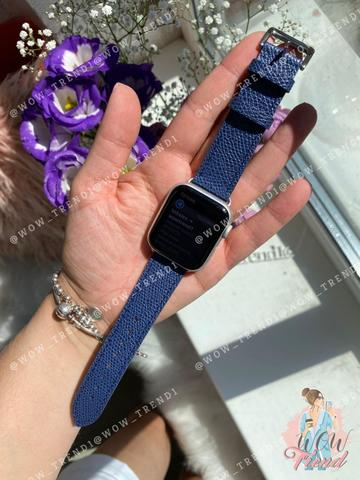 Ремешок Apple watch 42/44mm Hermès New Leather /midnight blue/