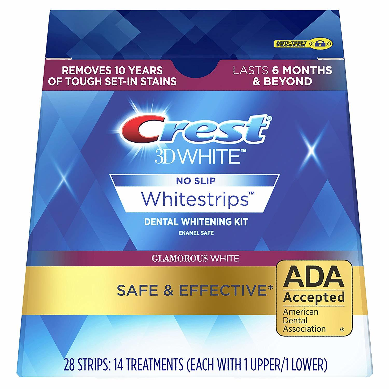 Отбеливающие полоски Crest 3D White Whitestrips Dental Whitening Kit Glamorous 28 шт
