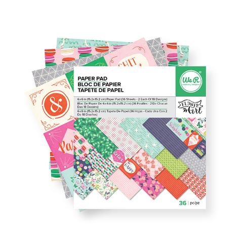 Набор односторонней бумаги FLOWER GIRL от WeRmk 15х15см