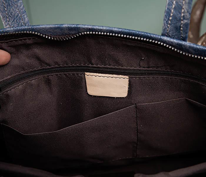BAG510-3 Портфель из натуральной кожи синего цвета фото 10