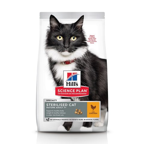 Hill's сухой корм для стерилизованных кошек до 7 лет 300г