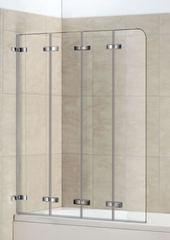 Стеклянная шторка на ванну Welt-Wasser WW 100ZD4 100