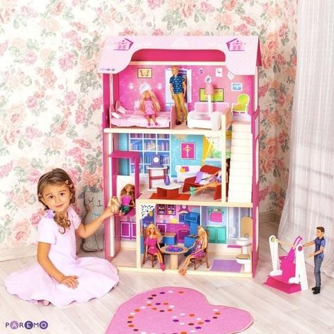 """Кукольный домик для Барби """"Муза"""" (16 предметов мебели, лестница, лифт, качели)"""