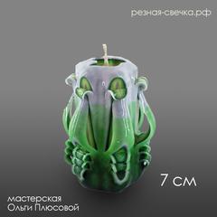Резная свеча Тюльпан Зеленый