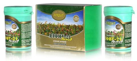 Чай Алфит-Актив № 21 седативный, 60 бр. (Гален)