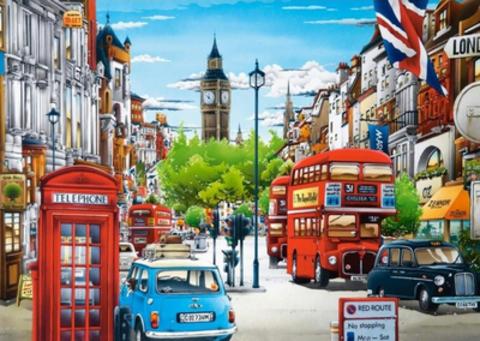 Картина раскраска по номерам 40x50 лондонский двор