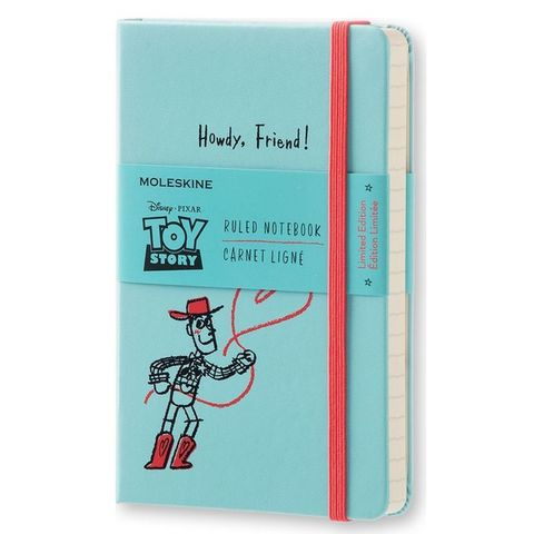 Блокнот Moleskine Limited Edition TOY STORY LETSMM710 Pocket 90x140мм 192стр. линейка голубой