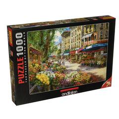Puzzle Paris Çiçek Pazarı.  Paris Flower Market 1000 pcs