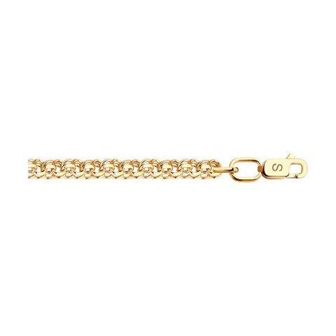 582070502 - Цепь из золота 585 пробы плетение бисмарк ручной