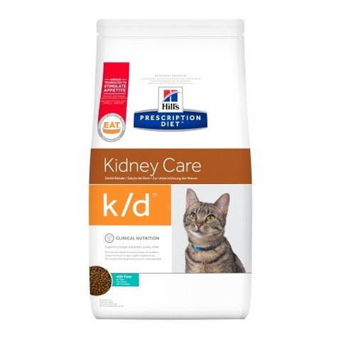 Hill's K/D Диета сухой корм для кошек лечение заболеваний почек, профилактика МКБ оксалаты 400г