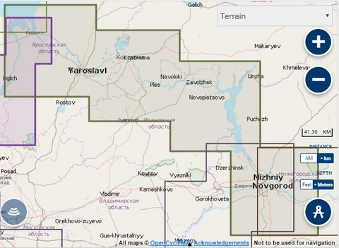Карта: Рыбинск - Нижний Новгород, Navionics+ Small 5G625S2
