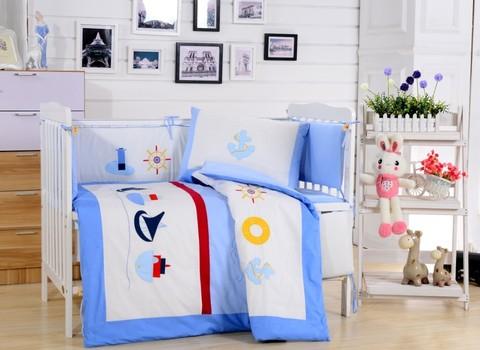 Комплект детского постельного белья с бортиками из 7 предметов