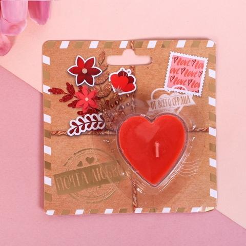 Свеча на открытке Почта любви
