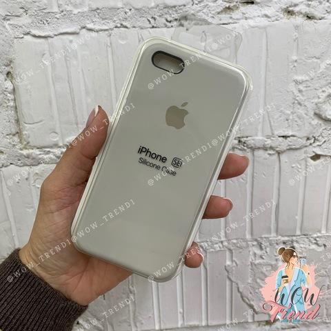 Чехол iPhone 5/5s/SE Silicone Case /stone/ светло-серый 1:1