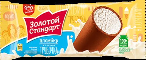 """Мороженое трубочка """"Золотой стандарт"""" Пломбир 74г"""