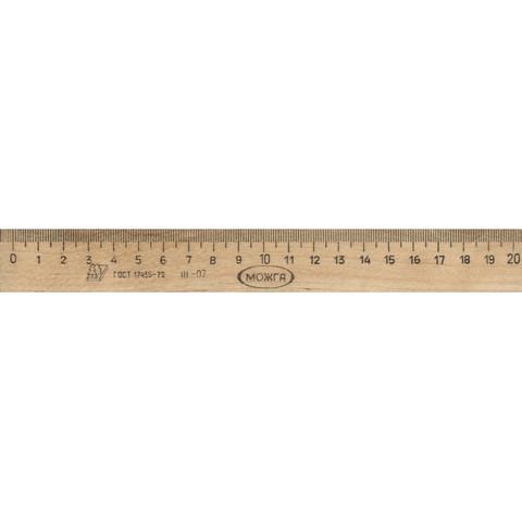 Линейка Можга деревянная 20 см
