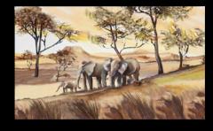 """Постер """"Семья слонов"""""""
